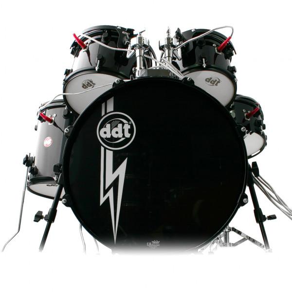 ddt E-Akustik Drum-Set schwarz
