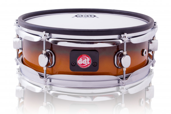 """ddt E Drum Snare 12"""" x 3,5 Zoll Holz Snare Pad limited Honey Black Fade"""